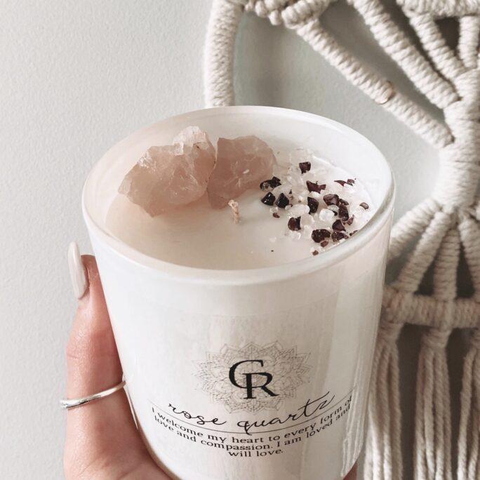 Intention Crystal Candle - Rose Quartz