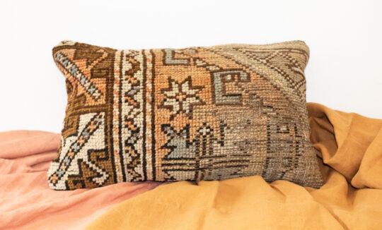 Vintage Turkish Kilim Meditation Cushion Cover - Metta