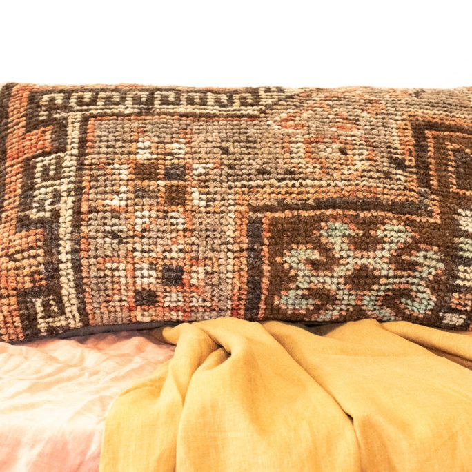 Vintage Turkish Kilim Meditation Cushion Cover - Zazen