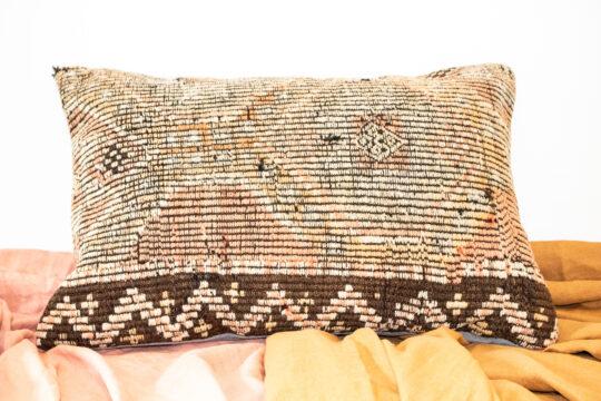 Vintage Turkish Kilim Meditation Cushion Cover - Sahara 3