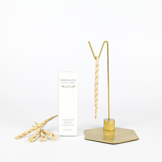Brass Shemana Elixirs Hexagon Stand Incense Kit