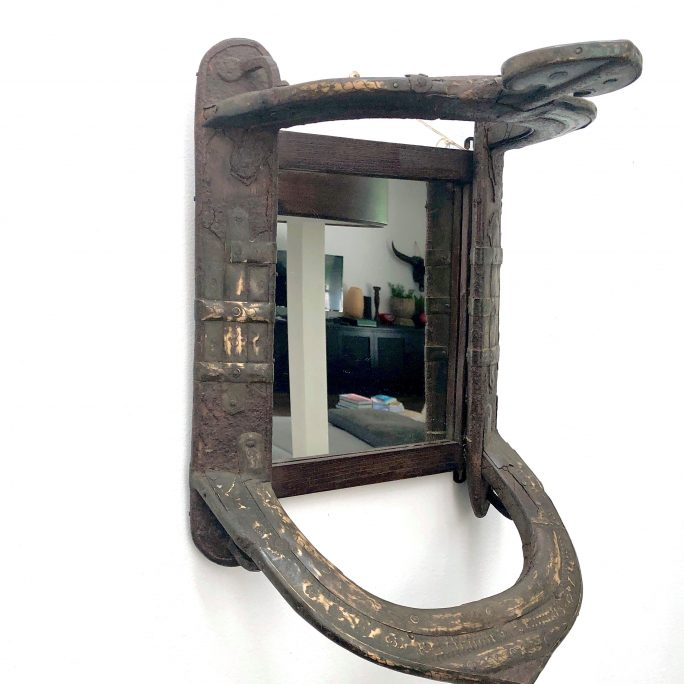 Antique Camel Seat Wall Mirror