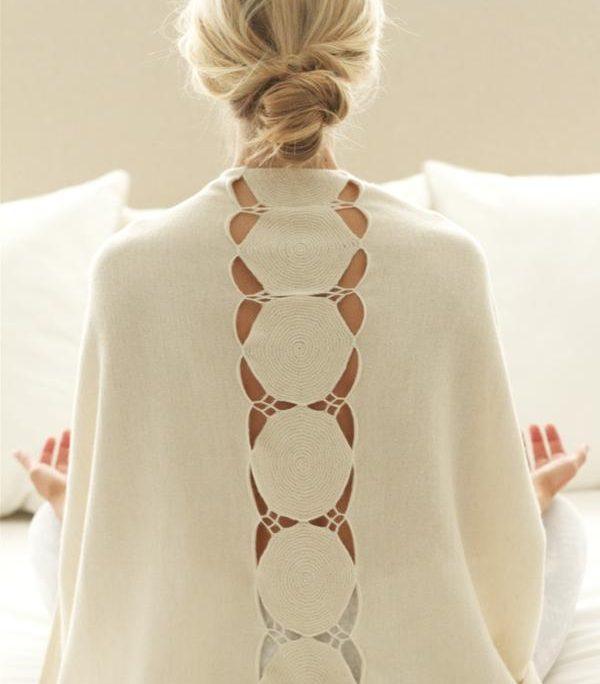 alpaca silk meditation wrap