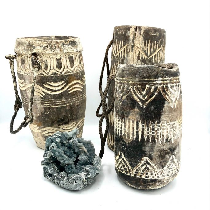 Vintage Timber Storage Pot