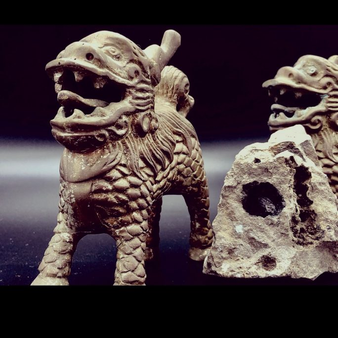 Antique Protective Foo Dogs